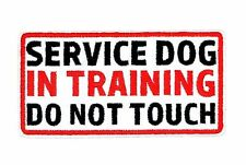 SERVICE DOG IN TRAINING DO NOT TOUCH PATCH (SDIT-619)
