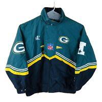 Vintage 90s Logo Athletic Green Bay Packers Jacket Large NFL Pro Line 🧀