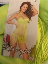 dreamgirl Women's Fringe-Tastic Babydoll and Thong Size M