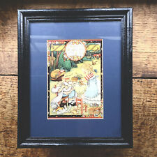 "Vintage Mary Engelbreit Matted Framed Card Picture ""Do Unto Others 80's Wall Art"