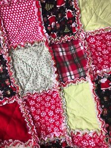Winter~Christmas-Santa~Patch Work Rag Quilt