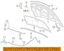 GM OEM Hood-Support Prop Rod Clamp Clip Holder 94580619