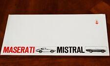 Maserati Mistral Coupe & Convertible 4-page brochure Prospekt, 1966