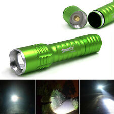 Zoomable 9000Lumen CREE T6 LED Flashlight 18650 3modes Green Waterproof Torch