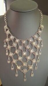 vintage handmade  Egyptian / Middle eastern ethnic boho metal collar  necklace
