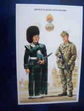 Military Uniform Postcard printed - Royal Highland Fusiliers
