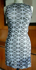 Gareth Pugh geometric pattern dress size IT42 UK10