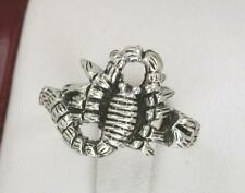 STERLING SILVER DETAILED SCORPION RING size 6 SCORPIO  style# r0836