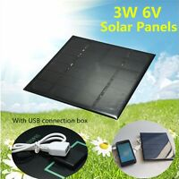 3W 6V Monocrystalline Solar Panel Battery Charging Board With USB Connection