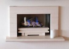 """""""THE PALERMO """"  SUPERB HOLE IN THE WALL GAS FIRE SUITE IN LIMESTONE AND GRANITE"""
