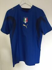 Puma Italy 2006/2007 Home Football Short Sleeve T-Shirt Size S