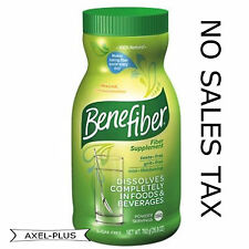 Benefiber 190 servings Non-thickening poweder Fiber, 26.8oz each Sugar Free NEW!