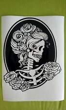 "stunning steampunk sugar skull lady Vinyl decal sticker 11""X 9"" wall window car"