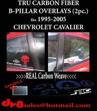 Carbon fiber Pillar Posts for Chevy Cavalier (2dr) 95-05 2pc Set Cover Door Trim