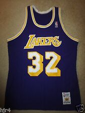 Magic Johnson #32 Los Angeles Lakers NBA Finals Sand-knit Jersey LG L