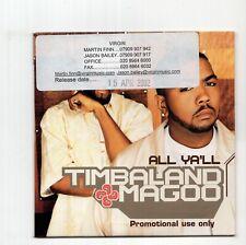 (JA511) Timbaland & Magoo, All Ya'll - 2002 DJ CD