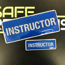 Encapsulated  Reflective INSTRUCTOR Badge SET 250mm BIKE CAR LEARNER