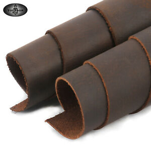 """TOURBON 12X12"""" Genuine Leather 1.7 mm Buffalo Leather Crafts DIY Tooling Brown"""