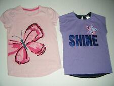 Euc 2 Gymboree Girls Ss Shirts Size 7 - Embellished