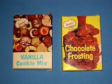 VTG lot 2 Junior Chef Vanilla Cookie Mix & Chocolate Frosting Org Box Bake Easy!
