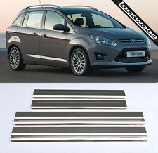 Ford Grand C-Max (released 2010) Stainless Sill Protectors / Kick Plates