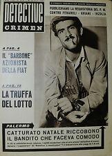 """* DETECTIVE CRIMEN ANNO XV° N°25/ 20/GIU/1959 * IL """" BARBONE """" AZIONISTA FIAT *"""