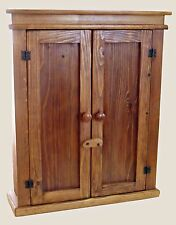Maderaproductions Handmade  Rustic Cedar Wood 2 door   Wall Cabinet 25""