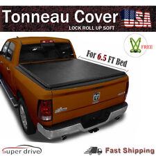 "Lock & Roll Up Soft Tonneau Cover For 2005-2011 Dodge Dakota 6.5' FT (78"") Bed"
