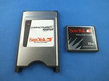 Original SanDisk PCMCIA + 32 MB Compact Flash Card CF Karte SDCFB Kamera Camera