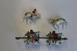 Britains Metal Coronation Horses and Riders damaged and incomplete