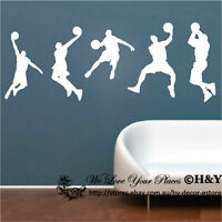 Basketball Player Wall Decor Vinyl Decal Sticker Removable Kids Art Mural window