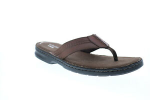 Clarks Malone Bay 26147720 Mens Brown Leather Flip-Flops Sandals Shoes