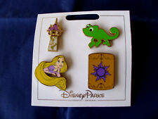 * RAPUNZEL - TANGLED * 2017 Disney Parks 4 Pin Themed Set on Card Trading Pins