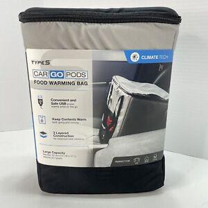 Car Go Pods Food Warming Bag USB Travel Portable Foldable Lunch Box - New