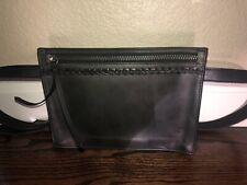 Frye 20 MM Black Leather Zip Belt Bag/Fanny Pack/Purse (MSRP $218)