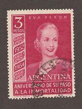 Argentina Scott 627, Used, Eva Peron 2nd Anniv.  WMK 288