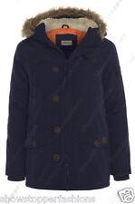 NUEVO de chico chaqueta Parka Capucha Niño Acolchado Ropa Edad 7 A 13