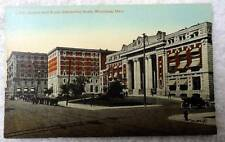 POSTCARD RAILROAD TRAIN STATION ROYAL ALEXANDRA HOTEL WINNIPEG CANADA #2