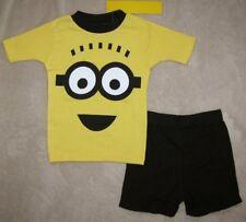 DESPICABLE ME *Minion Face*  Cotton S/S Shirt Short Pajamas Pjs sz 10