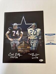 Bob Lilly & Mel Renfro Signed 11 x 14 photo Beckett COA Dallas Cowboys HOFers