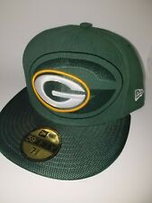 NEW Green Bay Packers Fitted Hat/Cap by New Era 59Fifty Sz 7 3/8. Cool Era NFL.
