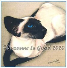 Siamese Cat art print sealpoint large from original painting by Suzanne Le Good