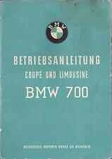 BMW 700 COUPE BERLINA manuale di istruzioni 1960 MANUALE MANUALE BA