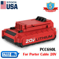 20V MAX PCC680L Battery For Porter Cable PCC685L PCC682L Lithium Impact Tools US