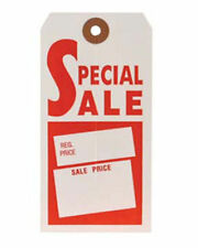 1000 Store Merchandise Red & White Special Sale Tag No String 21/2''X43/4&#03 4; S9412