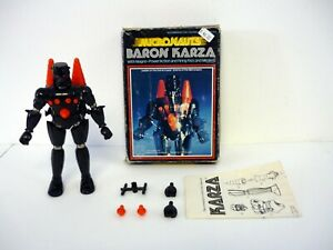 "MEGO MICRONAUTS BARON KARZA Vintage 6.5"" Magnetic Figure COMPLETE w/BOX 1977"