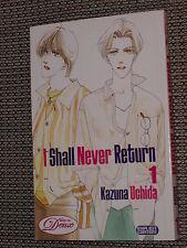 I Shall Never Return Yaoi Manga Volume #1 - Kazuna Uchida 2007 Deux  - Like NEW