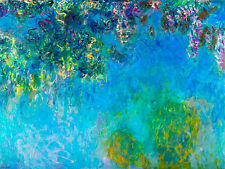 Monet 1925, Wisteria, Fade Resistant HD Art Print or Canvas