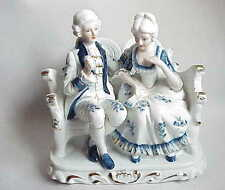 Wonderful Vintage Colonial / Victorian Man & Woman Lovers China Figurine Statue