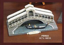 Souvenir Italia Venezia Ponte di Rialto Gondola 3D in resina cm.16x10x7 by Paben